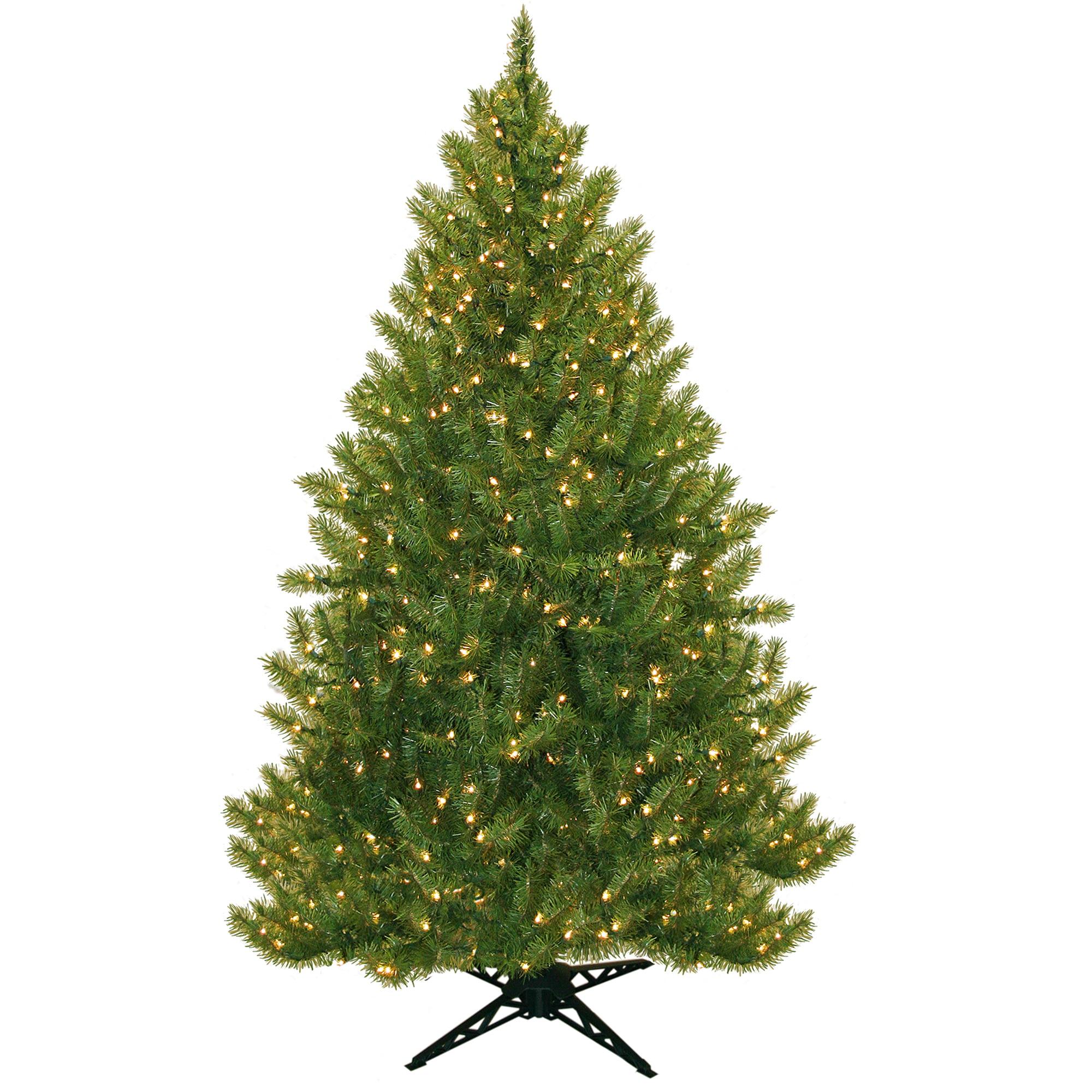 Pre-Lit 6.5' Vermont Fir Artificial Christmas Tree, 450 Clear ...