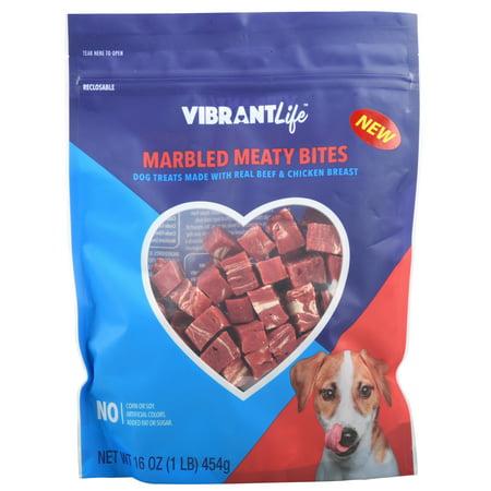 vibrant life marbled meaty bites dog treats 16 oz. Black Bedroom Furniture Sets. Home Design Ideas