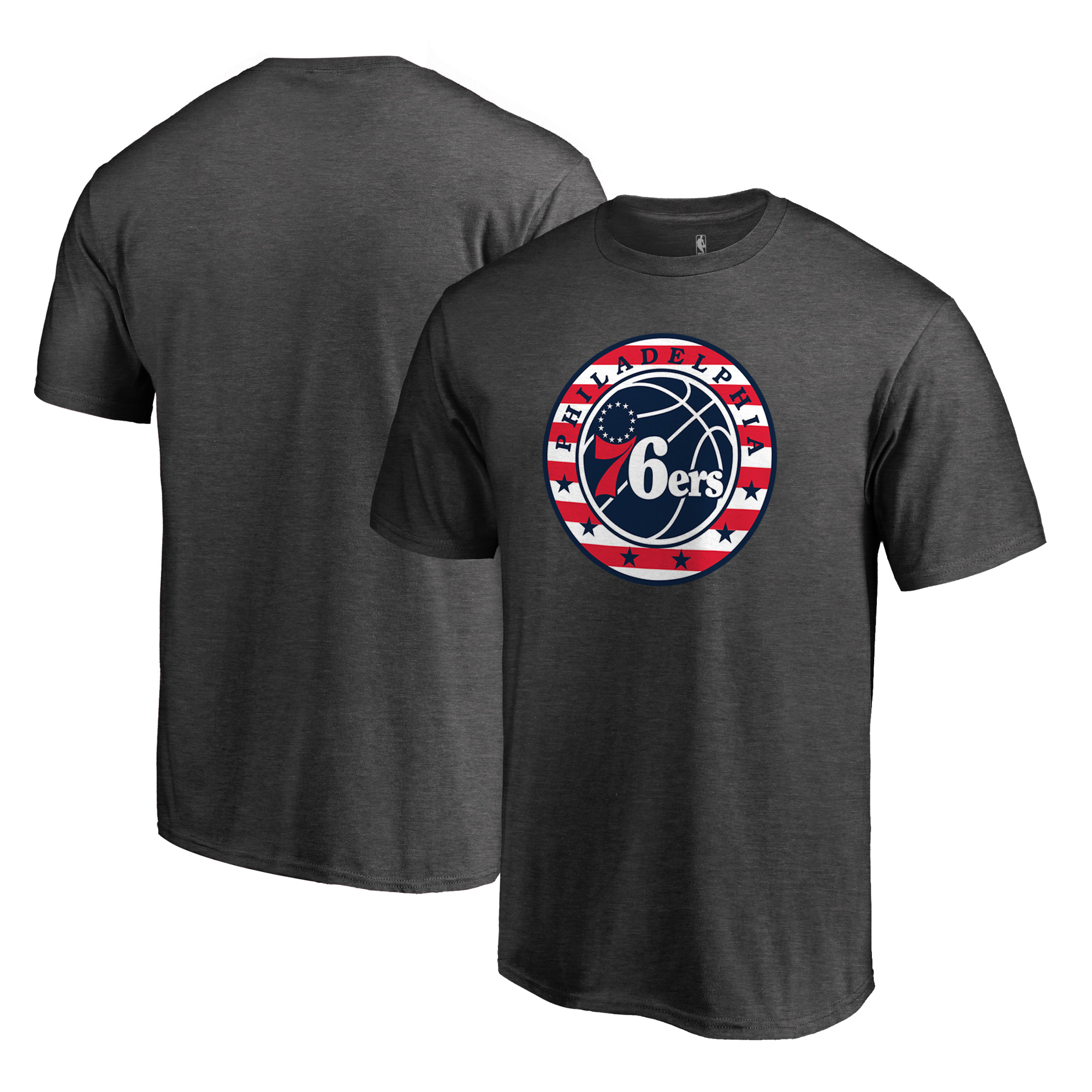Philadelphia 76ers Fanatics Branded NBA Hoops for Troops T-Shirt - Gray
