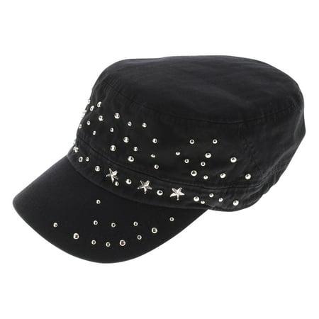 FLATSEVEN - FLATSEVEN Womens Designer Studed Military Cap (Z121) -  Walmart.com 351458b0ee