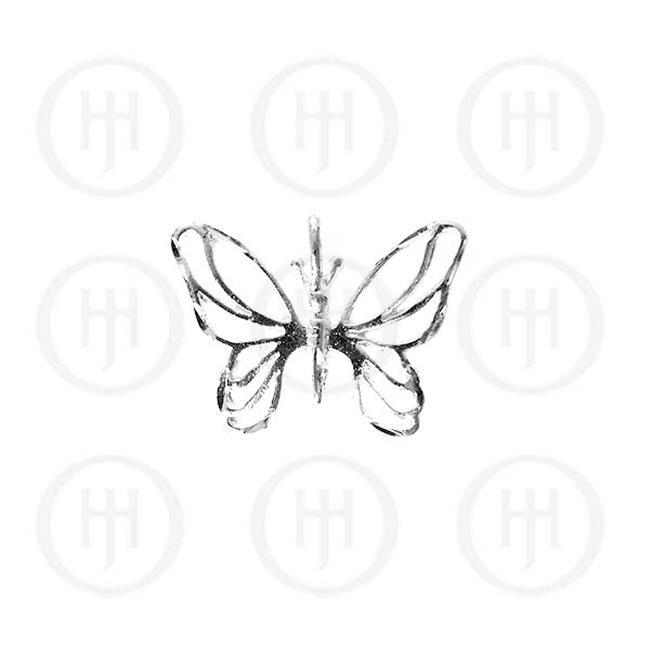 Doma Jewellery MAS04920 Sterling Silver -DiamondCut Animal Charm Butterfly JB466