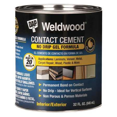 Contact Cement - Dap 25312 1-Quart Weldwood Contact Cement Gel