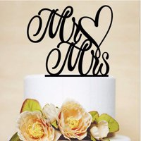 Product Image Meigar Mr And Mrs Cake Toppers Wedding Topper Aniversary Party Decorations Favors
