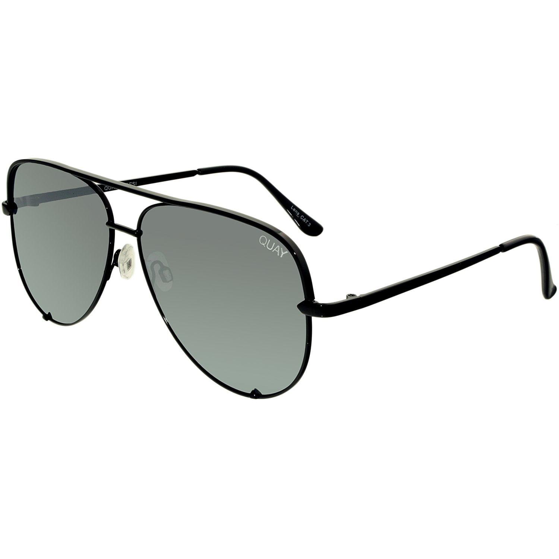 Quay Women's Mirrored Desi Perkins High Key Qc 000142 Blk/Slv Black Aviator Sunglasses by Quay