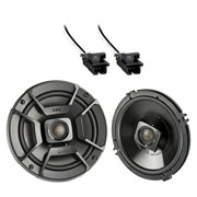 """2x Polk Audio 6.5"""" 300W 2 Way Car/Marine ATV Stereo Coaxial Speakers, 2x Metra 72-4568 Speaker Wire Harness for Select GM Vehicles"""