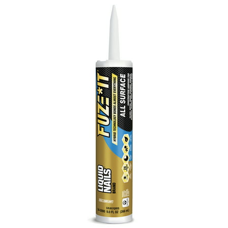 (24 Pack) Liquid Nails Fuze It All Surface Construction Adhesive, 9 fl (Liquid Nails Or Gorilla Glue For Wood)