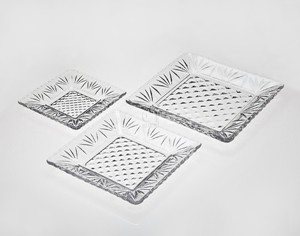 6  Clear Crystal Square Dessert Appetizer Buffet Plates Set of 12  sc 1 st  Walmart : buffet plates set of 12 - pezcame.com