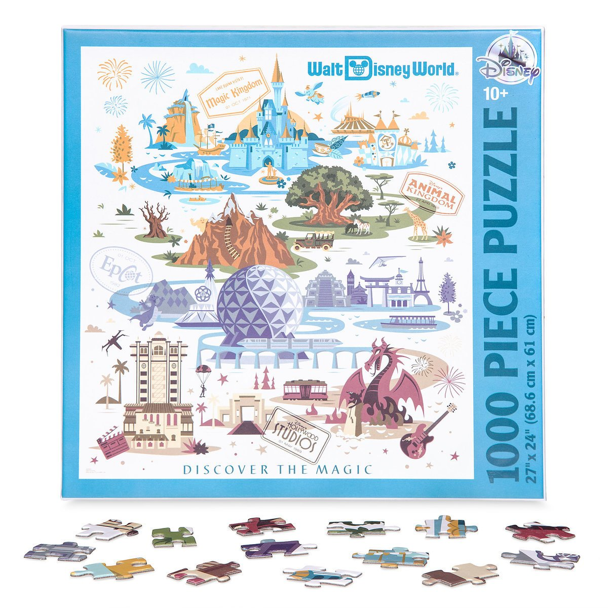 Disney Walt Disney World Resort Map Jigsaw Puzzle 1000 pcs New with Box by