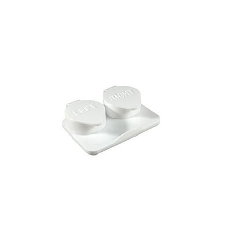 12-Pack, Deep Well Flip top White Contact Lens Cases - White Contact Lenses Non Prescription