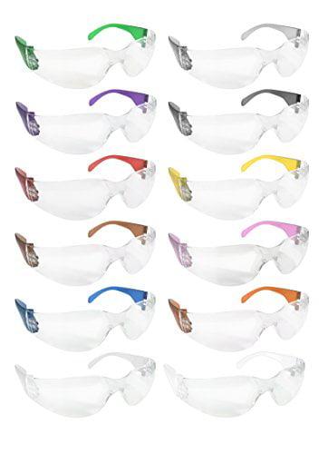 SAFE HANDLER Protective Safety Glasses Box of 12 Polycarbonate Resistant Lens