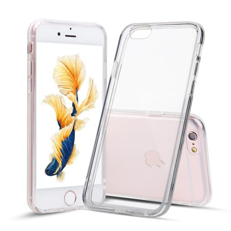 For iPhone 6s, Shamo's Clear Case [Shock Absorption] Cover TPU Rubber Gel [Anti Scratch] Transparent Clear Back, Soft Silicone, Screen Raised Lip Protection, Impact Resistant, More Grip, iPhone