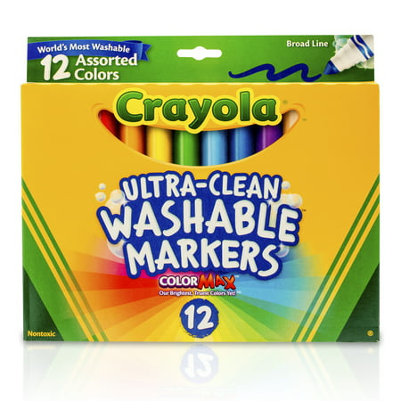 Crayola® Broad Line Washable Markers 12 ct. per box, Set of 3 boxes