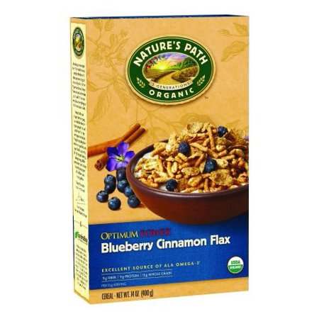 - Nature's Path Organic Optimum Power Cereal, Blueberry Cinnamon Flax, 14 Oz