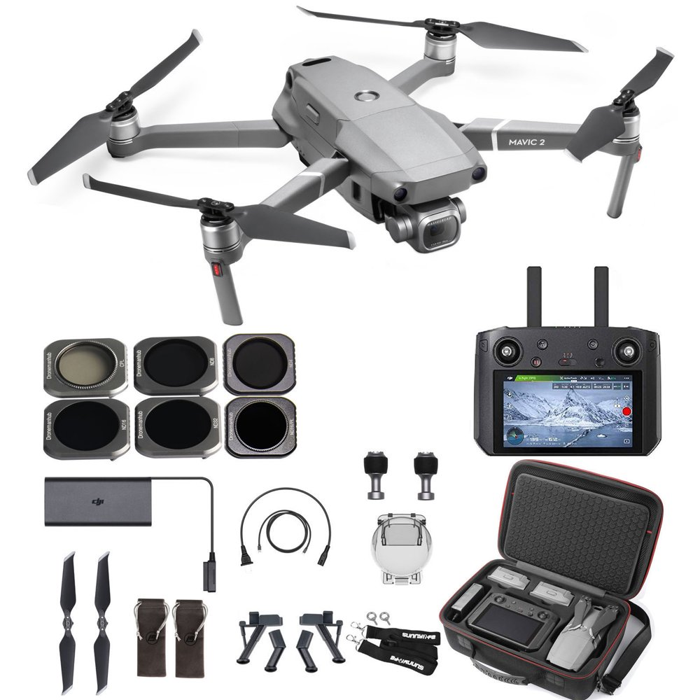 DJI Mavic 2 Pro Drone Quadcopter with Smart Controller, Comes with Hard Professional Case, ND Filter Set and More