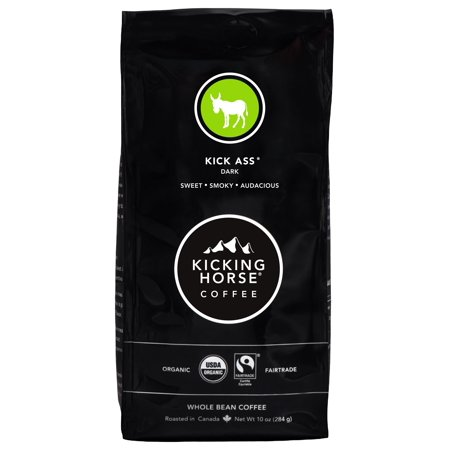 Kicking Horse Whole Bean Coffee, Dark Roast, 10 Ounce