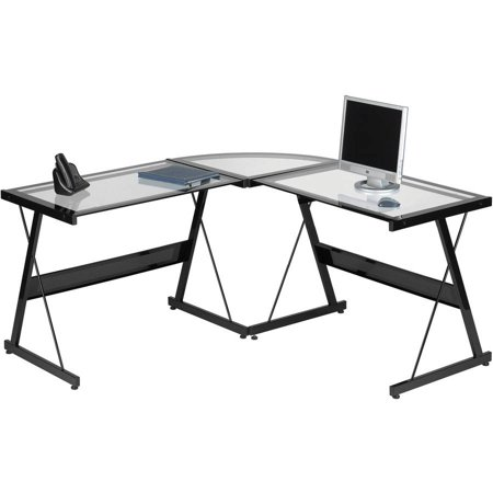 Santorini L Shaped Computer Desk  Multiple Colors
