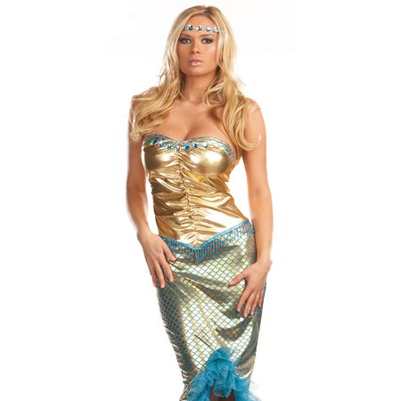 Dreamgirl Sexy Siren Little Mermaid Dress Adult Halloween Costume