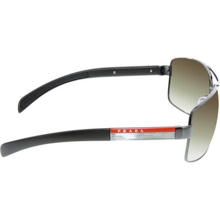 a0ae31b2574 Prada Men s Gradient PS54IS-5AV6S1-65 Gunmetal Rectangle Sunglasses - image  1 ...