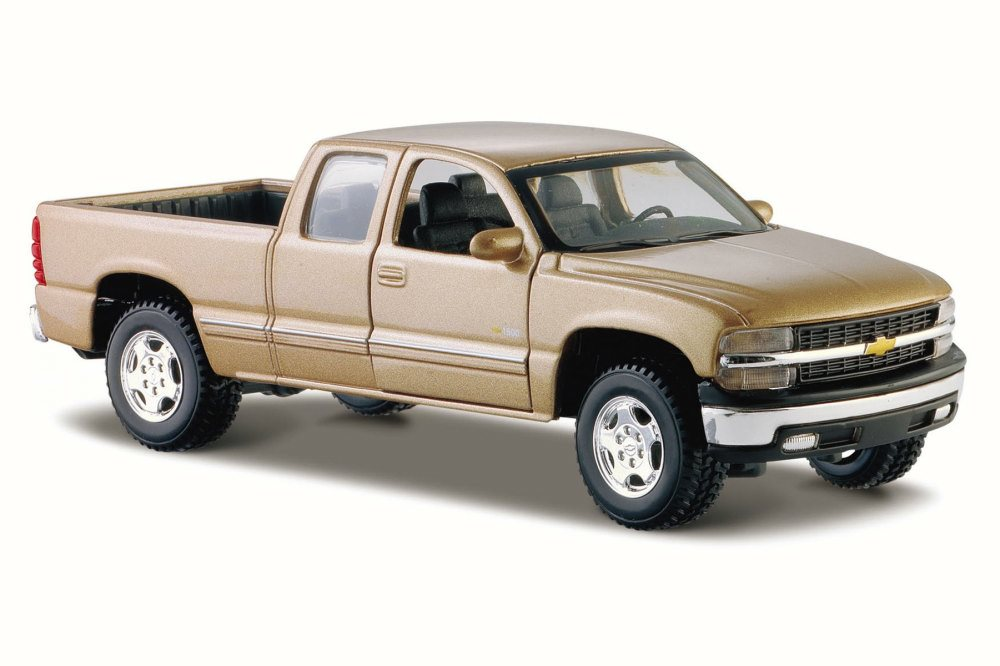 Chevrolet Silverado Pickup Truck, Gold Maisto 31941 1 27 Scale Diecast Model Toy Car by Maisto