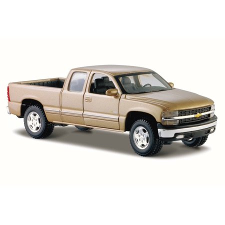 Chevrolet Silverado Pickup Truck, Gold - Maisto 31941 - 1/27 Scale Diecast Model Toy Car Gold Diecast Collectibles