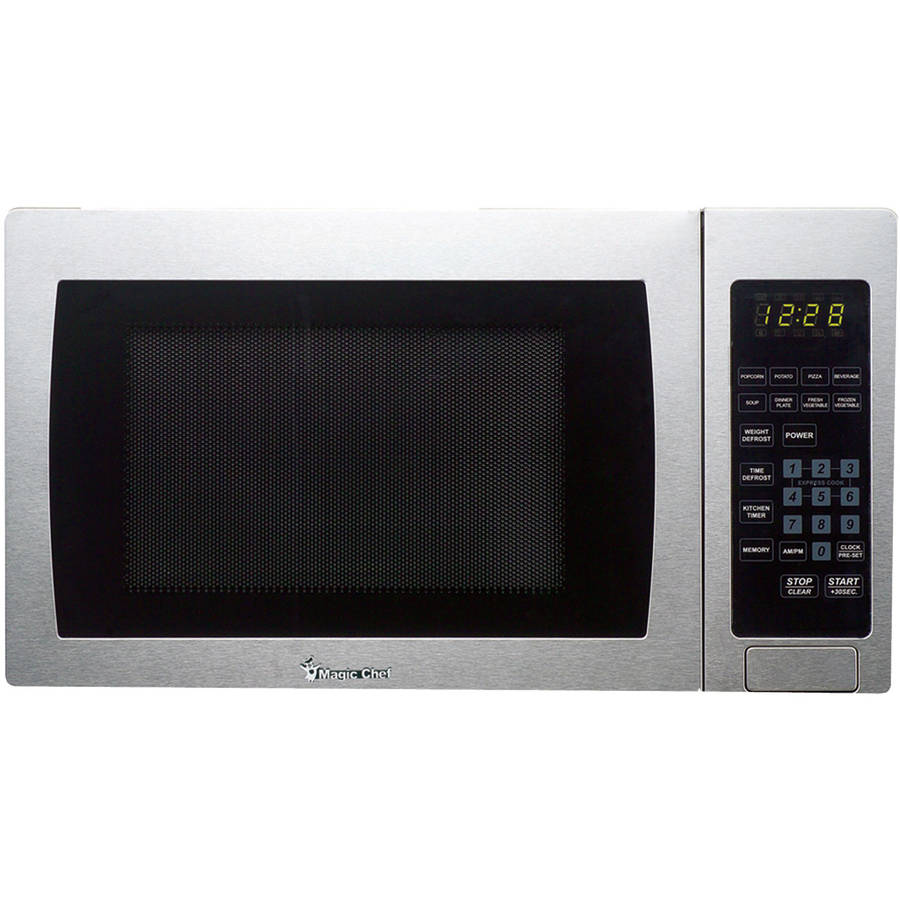 Magic Chef Mcm990st .9 cu ft, 900-watt Microwave with Digital Touch, Stainless