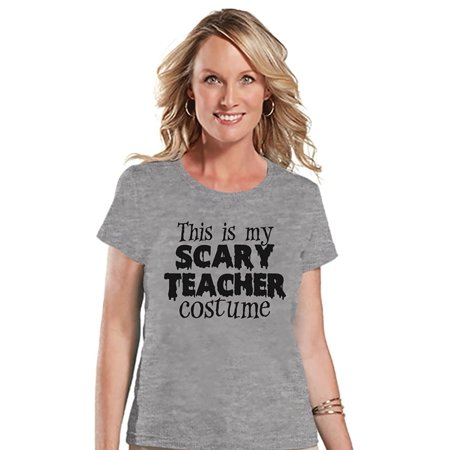 Halloween Teacher Ecard (Custom Party Shop Womens Scary Teacher Halloween T-shirt -)