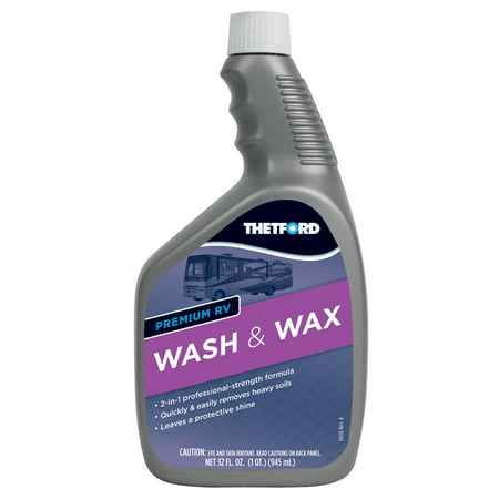 Premium RV Wash & Wax - Detergent and Wax for RVs / Boats / Trucks / Cars - 32 oz - Thetford