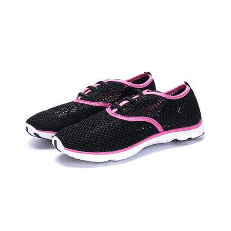 Womens Water Sneakers Shoes - Ladies Waterproof Watershoes Beach Pool Exercise