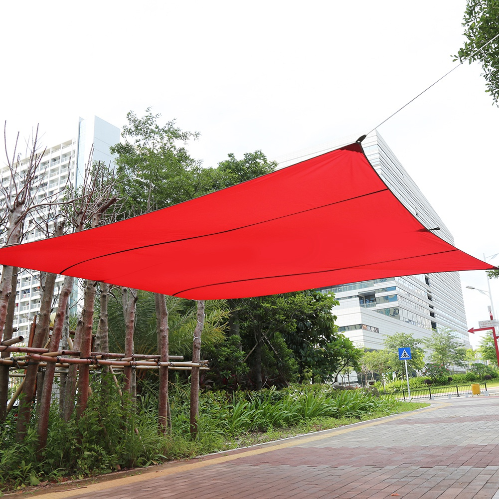 HERCHR Outdoor Awning Canopy Large Tarp Shelter Sun Shade Garden Patio Sunscreen Beach Tent with Tarp Poles, Ripstop Portable Waterproof Sun-proof for Camping Hiking Fishing Picnic, 177 x 196 in