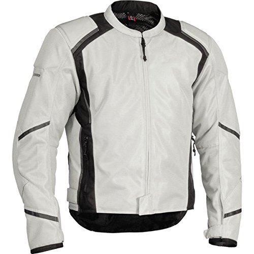 Firstgear Mesh-Tex Jacket, Gender: Mens/Unisex, Size: 3XL, Distinct Name: Silver, Primary Color: Silver, Apparel Material: Textile FTJ.1307.02.M006