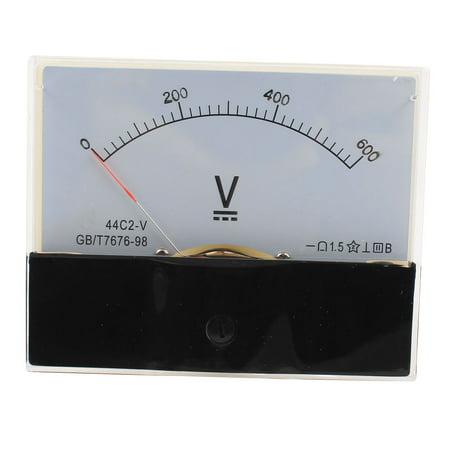 Class 1.5 DC 0-600V Analog Voltage Voltmeter Gauge Panel Volt Meter (Analog Micro Voltmeter)