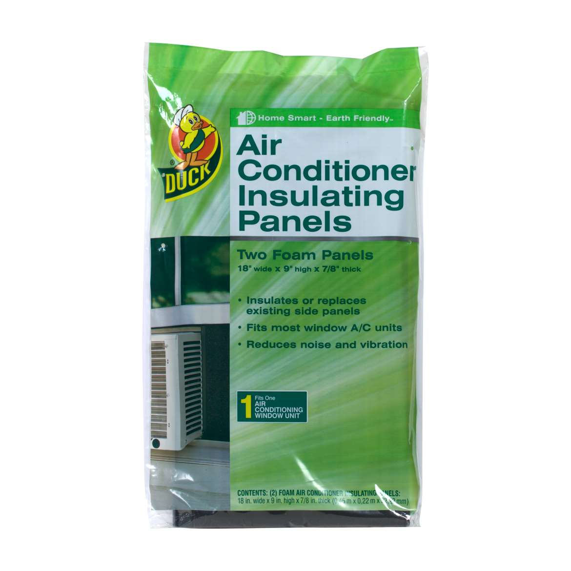 Duck Brand Window Air Conditioner Insulating Panels, Two Pack