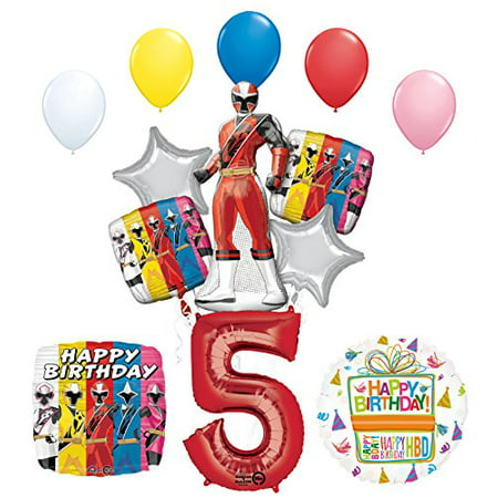 The Ultimate Power Rangers Ninja Steel 5th Birthday Party Supplies - Power Ranger Party Supplies