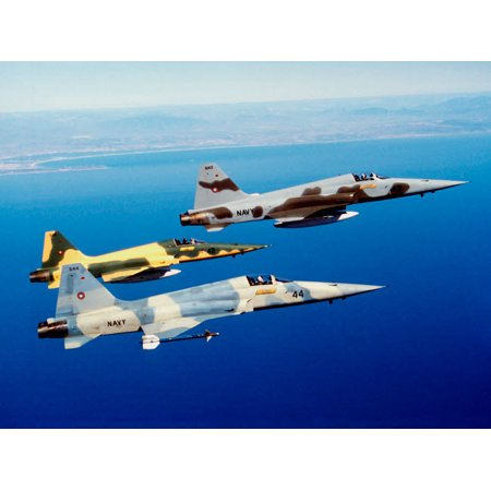 Three F-5E Tiger II fighter aircraft in flight Poster Print by Dave BaranekStocktrek Images](Foo Fighters Halloween Poster)