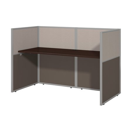 Decorate Work Cubicle For Halloween (EOD260MR-03K Bush Business Furniture Easy Office Collection Cubicle Workstations & Walls 158 Lbs Weight Capacity Mocha Cherry 60 W Straight Desk Closed)