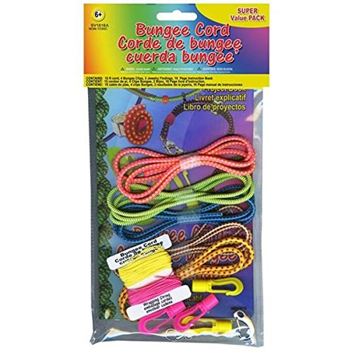 Pepperell Bungee Cord Super Value Pack, 5 Colors, 15'