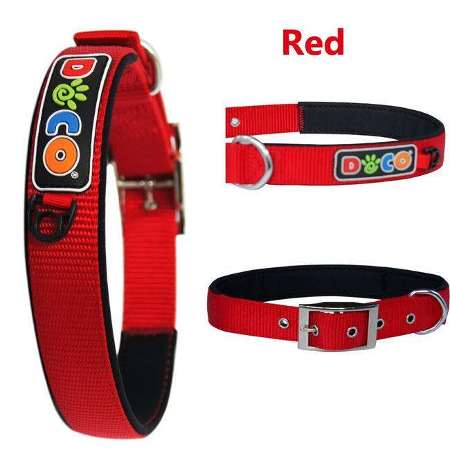 Doco DCSX2-05M Zinc Alloy Swivel Hook Dog Collar, Gray - Medium