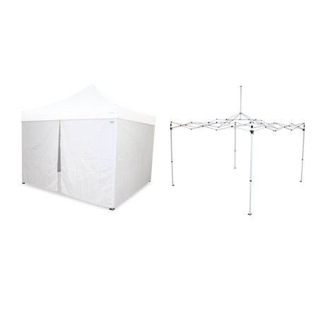 Caravan Canopy Pro 2 12 x 12 Foot Straight Leg Instant Canopy & Sidewalls, White - 12 Foot