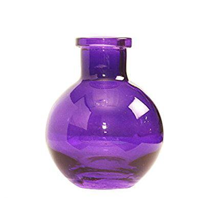 Ivy Lane Design Transparent Glass Vases, 3.5-Inch, Royal Purple, 5-Pack