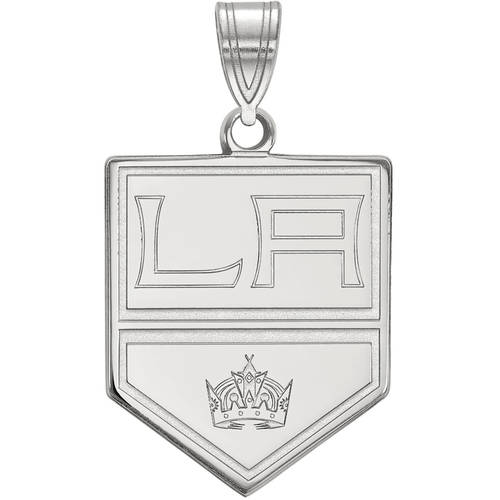 LogoArt NHL Los Angeles Kings Sterling Silver Large Pendant