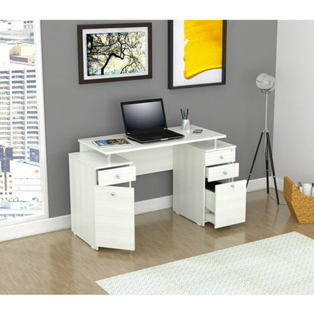 Inval Laura Collection Desk, Laricina-White Finish Style Collection Computer