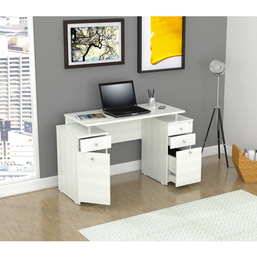 Inval Laura Collection Desk, Laricina-White Finish
