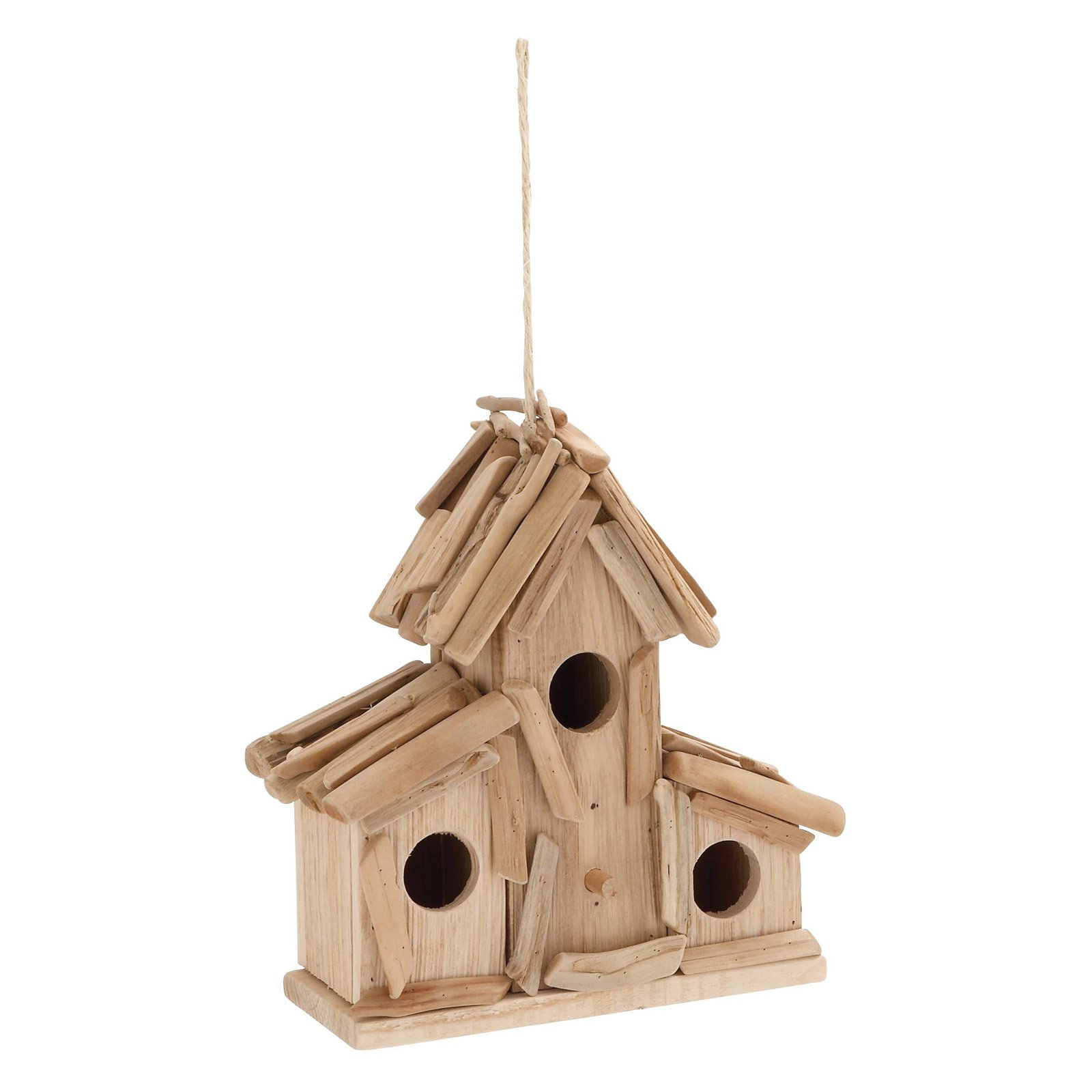 Decmode Driftwood Birdhouse, Natural by Bird Houses