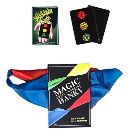 magic makers color changing hanky and stop light cards easy magic (Hanky Magic Trick)