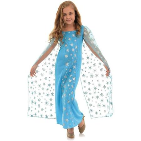 Snow Queen Cape (Snow Queen Snowflake Child Costume Dress)