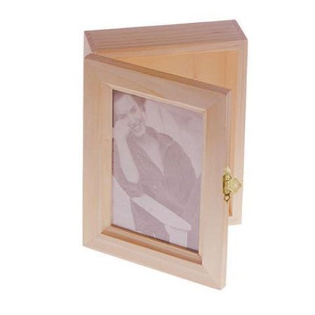 Bulk Buy Diy Crafts Wood Box Hinged With Frame Lid 7 X 55 Inches