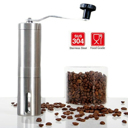 Portable Manual Stainless Steel Ceramic Coffee Bean Grinder with Adjustable Coarseness Ceramic - image 3 of 4