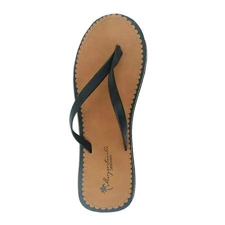 07476bd977bd Margaritaville - Margaritaville Ladies Flip Flop Seafoam Sandals  MGF17WEA429D - Walmart.com