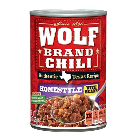 Wolf Homestyle Chili With Beans  15 Ounce