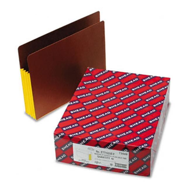 Smead 73688 3 1/2 in Expansion File Pockets with Tyvek  Straight  Letter  Yellow/Redrope  10/Bx